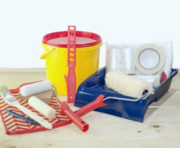 Wall painting equipment (what do you need to paint a room.