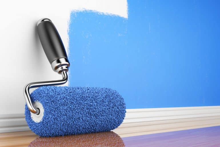 How to paint with a roller without leaving streaks. Get even coverage!