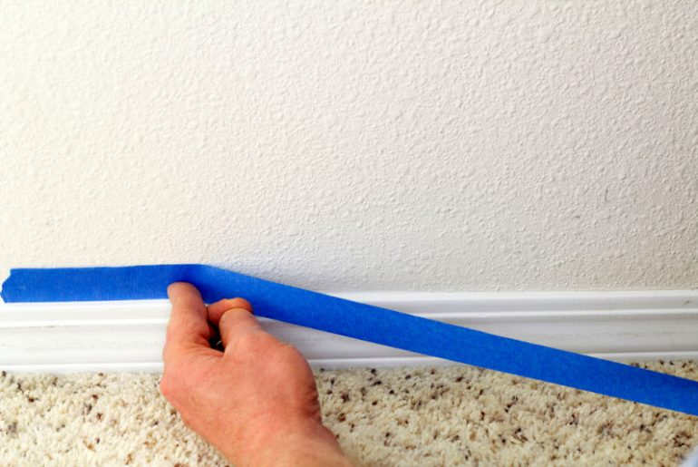 How to paint trim with or without using painters tape.