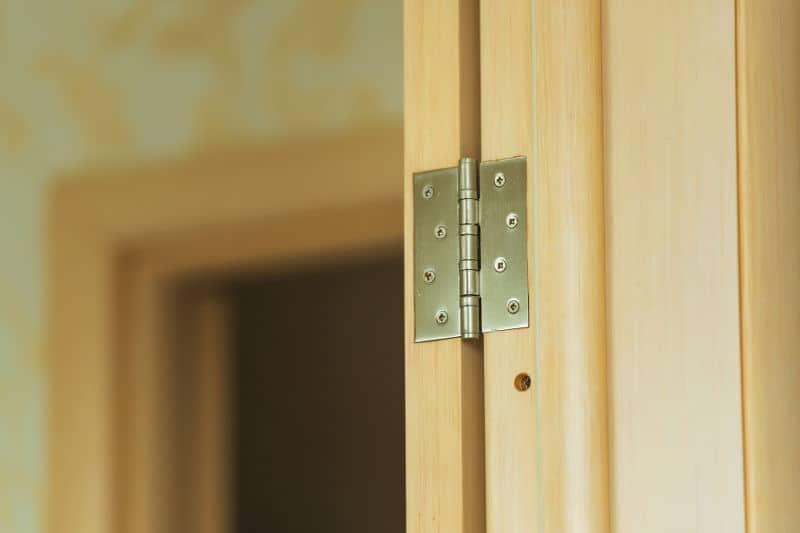 Replace door hinges if your doors are slamming.