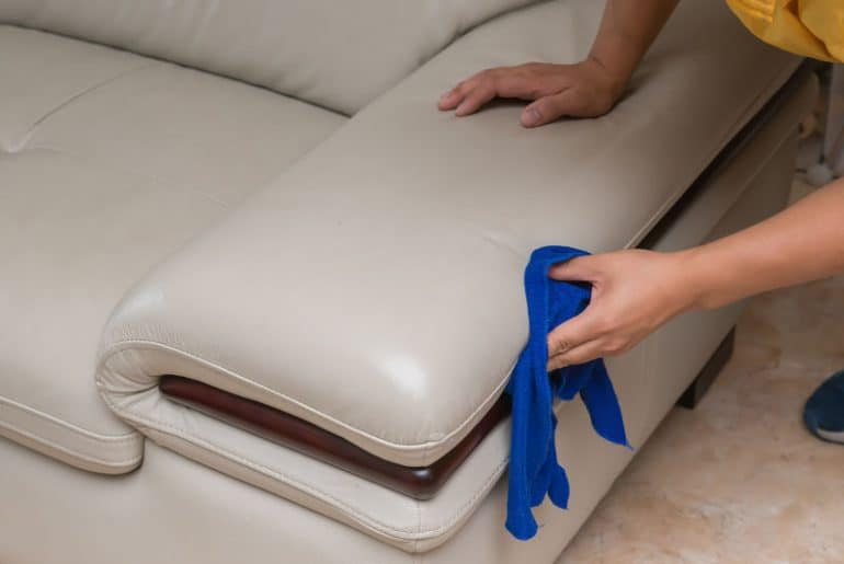How to recondition a leather couch naturally. Homemade couch cleaners.