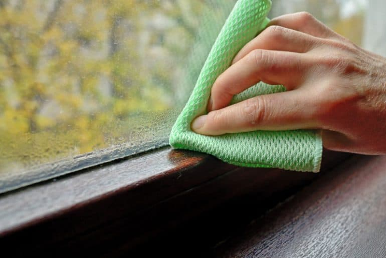 How to stop condensation on windows overnight.