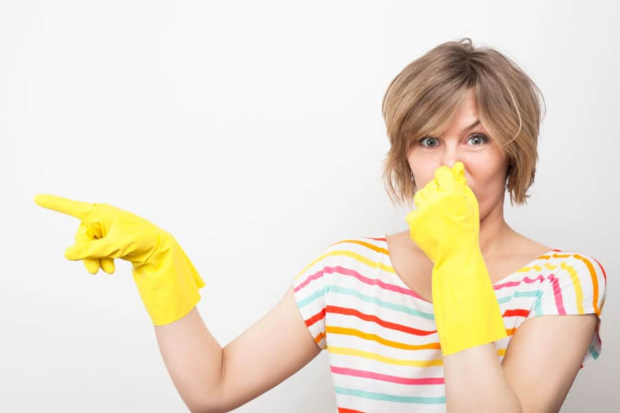 How to get rid of bleach smell in your nose after cleaning the house.