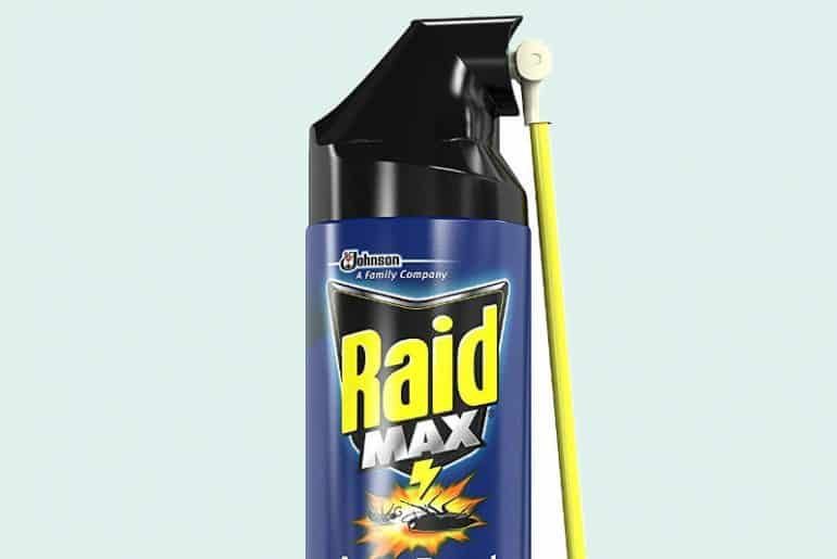 Is it safe to be in a room after spraying Raid?