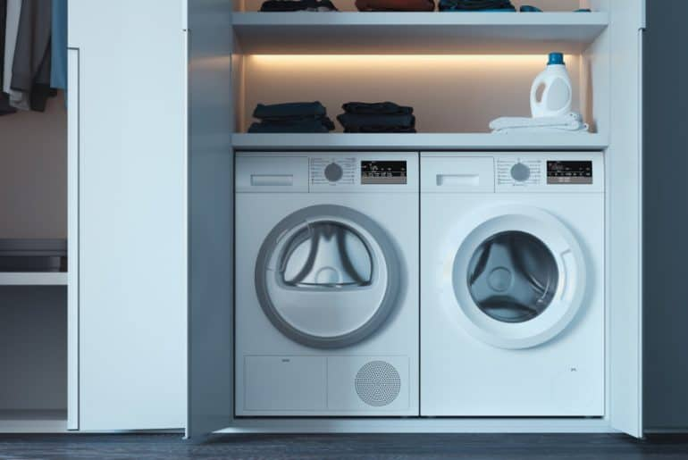 Washer and dryer dimensions and space requirements.