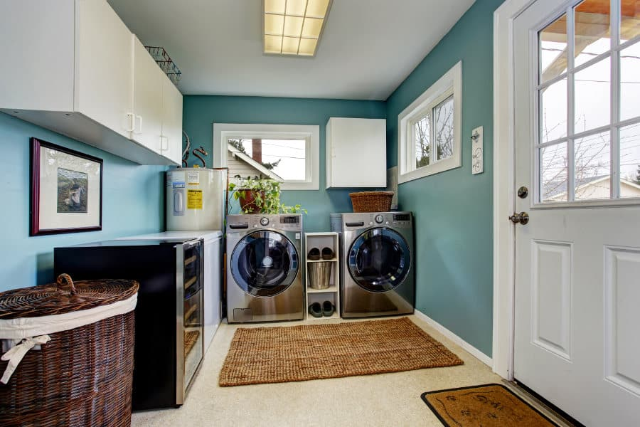 Washing and drying machine space requirements.