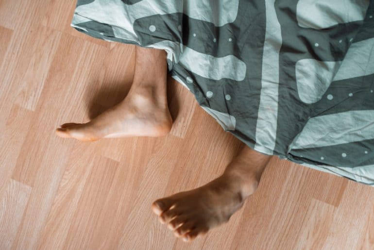 Sleeping on the floor comfortably