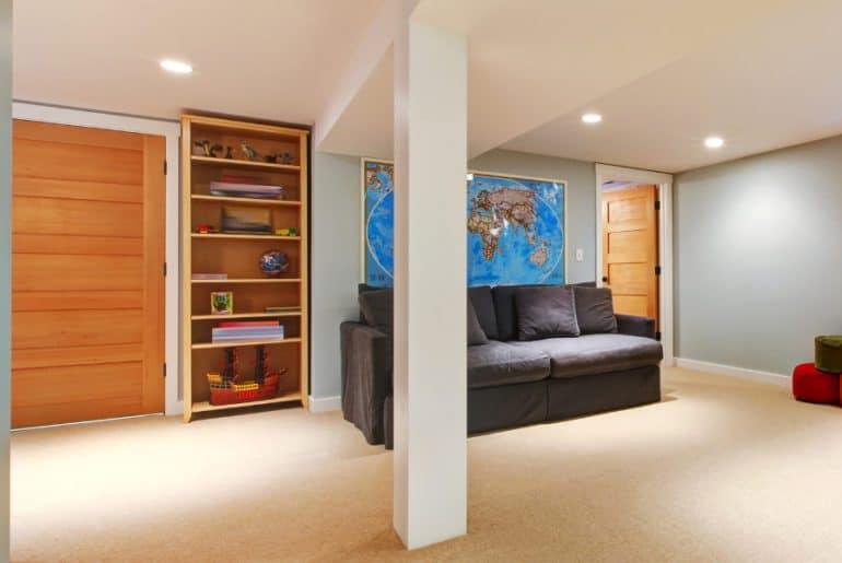 How to brighten a dark windowless room.