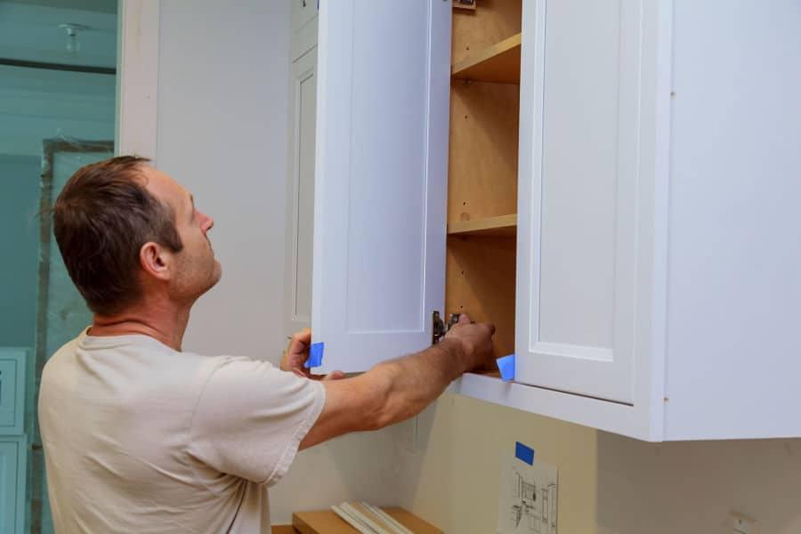 How to adjust a cabinet door.