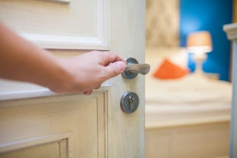 DIY methods for soundproofing a bedroom door.