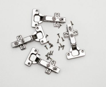 How many hinges you need to install per cabinet door.