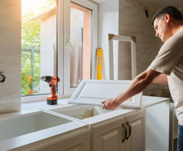 How to repair warped cabinet and cupboard doors.