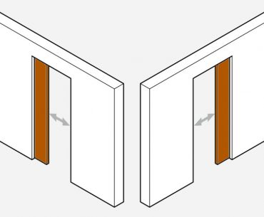 Adjusting a pocket door.