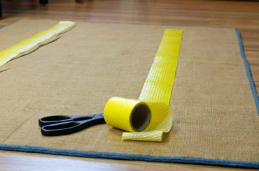Anti slip tape for stopping rugs from moving on carpet.