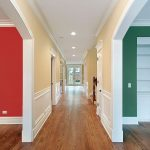Different styles of temporary doors for hallways.