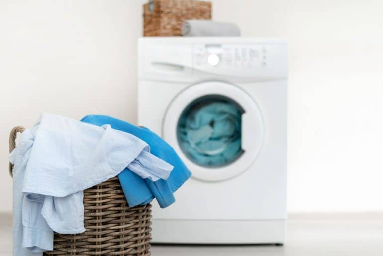How to stop washing machine from moving when spinning.