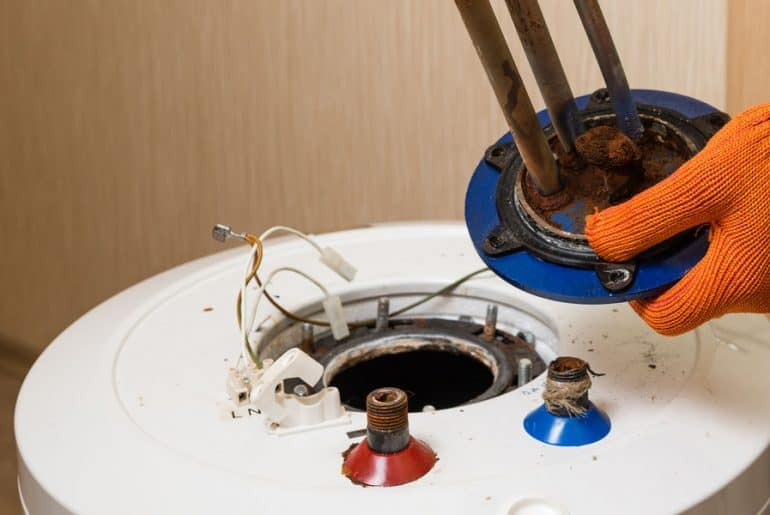 An old water heater. How long do water heater last?