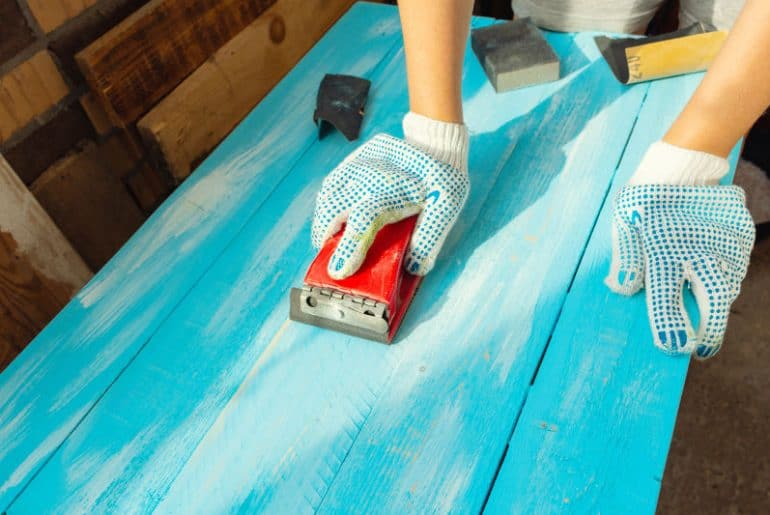 What grit sandpaper to use for painted wood.