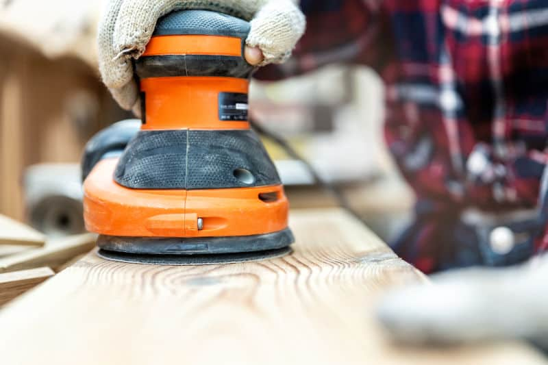 Orbital sander - the best tools for sanding paint off wood.