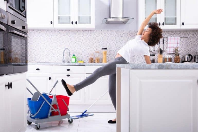 Tips to make tile floors less slippery.