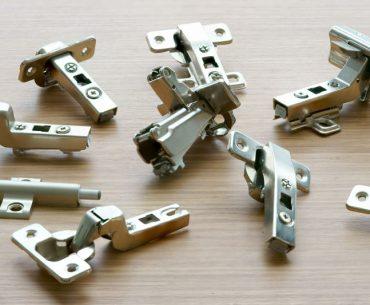 Different types of cabinet door hinges.