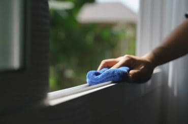 Clean the window track and make the windows slide easier.
