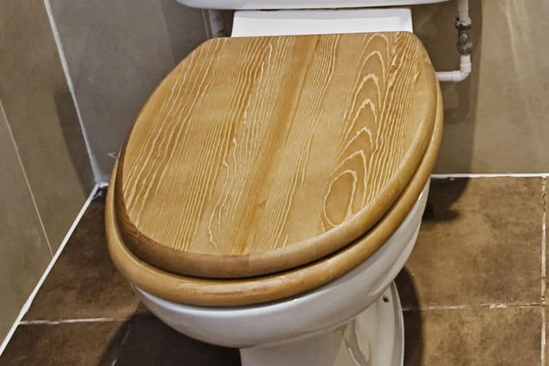 Wooden toilet seat (Toilet seat materials)