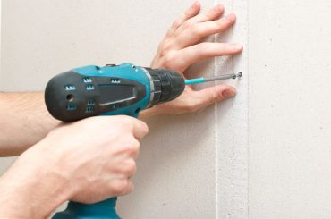 How to install drywall with no studs.