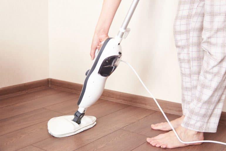 Using a steam mop on vinyl flooring