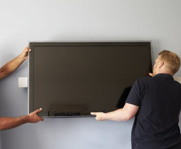 Size of TV that fits most walls.