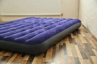 Can you place an air mattress on a bed frame?