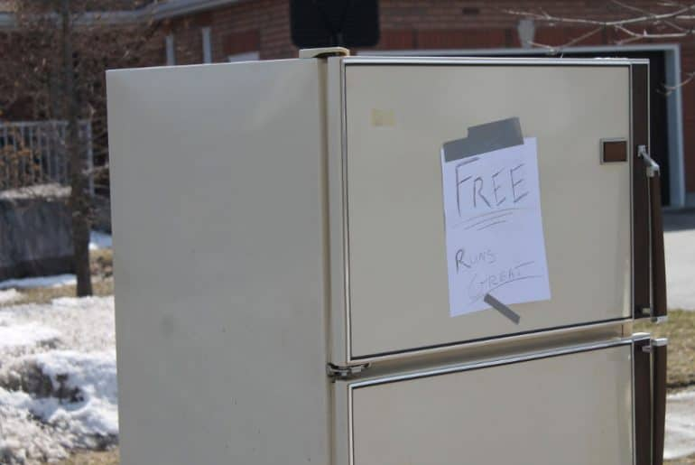 How to dispose of an old fridge or freezer.