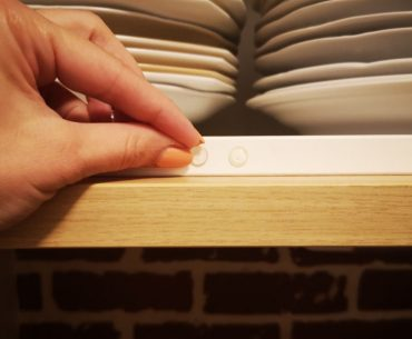 Learn how to remove sticky cabinet bumpers.