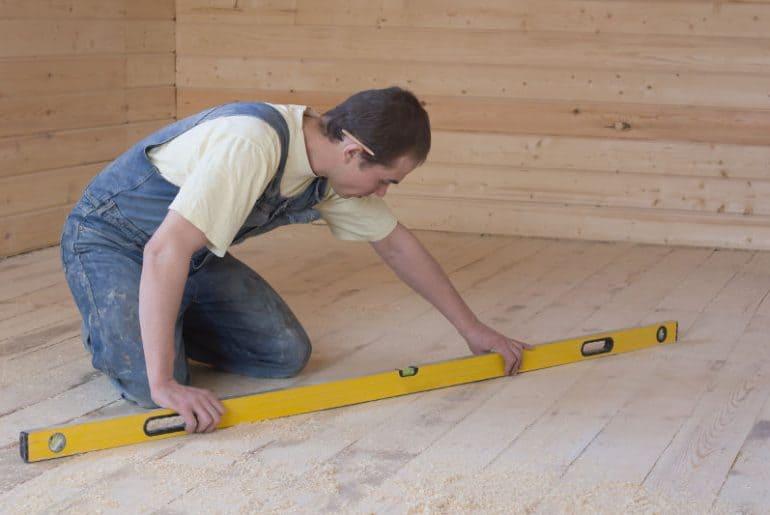 Acceptable floor slope.