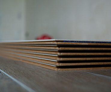 Acclimating laminate flooring before installation.