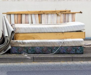 Bed frame and mattress disposal. The easiest way is to throw them away.