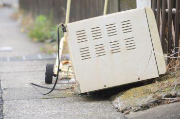Getting rid of an old, broken microwave.