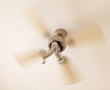 Ceiling fan power consumption when operating at high speed.