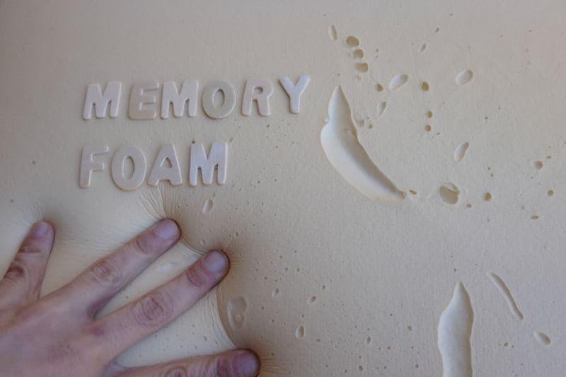 Pressing memory foam pillow.