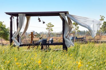 Keep outdoor curtains from blowing in the wind.